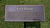 PA-WC60-2020.9.15#0741.1. The Frye house plaque. Washington Crossing Historic Park. Bucks County Pennsylvania.