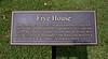 PA-WC60-2020.9.15#0741.1. The Frye house plaque. Washington Crossing Historic Park. Bucks County Pennsylvania.