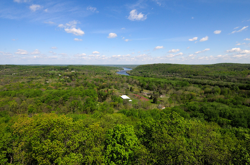 PA-WC9-2012.4.24#005.2. View from Bowman's Hill Tower. Washington Crossing Historic Park. Bucks County Pennsylvania.