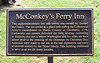 PA-WC34-2020.9.15#0717.1. McConkey's Ferry Inn sign. Washington Crossing Historic Park. Bucks County Pennsylvania.