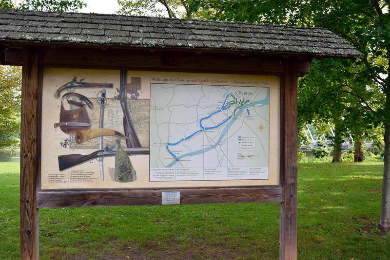 PA-WC56-2020.9.15#0714.1. Interpretive sign. Washiington Crossing Historic Park. Bucks County Pennsylvania.