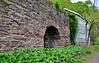 PA-U-2016.5.11#588.2. A view of a lime Kiln at the base of the cliffs behind the Uhlerstown Covered Bridge. Bucks County Pennsylvania.