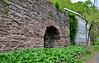 PA-U-2016.5.11#588.2. A view of a lime Kiln at the base of the cliffs behind the Uhlerstown Covered Bridge. Bucks County Pennsylvania.