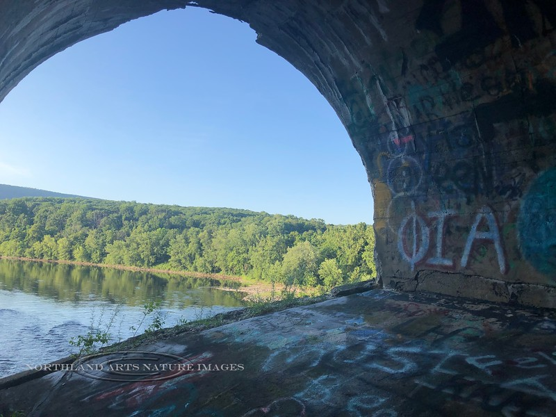 PA-DRV2-2019.7.14#064.1. View from the Delaware River Viaduct. Mount Bethel Pennsylvania. Photo by Karisa Smith.