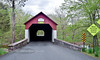 PA-CBF-2016.5.15#091.3. A spring scene of the Frankenfield Covered Bridge over the Tinicum Creek. It is of a planked lattice truss design, 130 feet in lenght. Bucks County Pennsylvania.