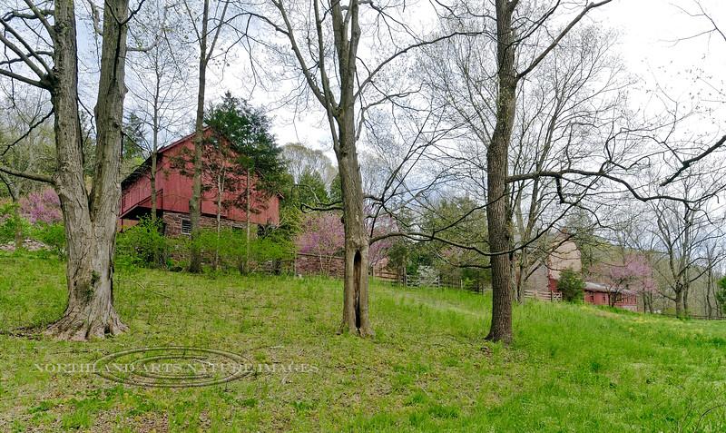 PA-2012.4.28#070.4. A classic vintage Lower Bucks County farm along the Sheep Hole road. Lower Tinicum, Bucks County Pennsylvania.