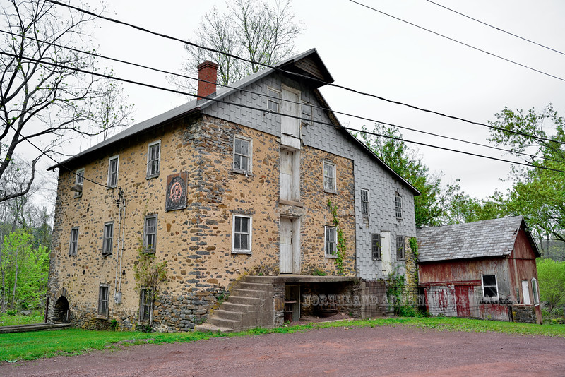 PA-2016.5.11#561-Levi Sheard Grist Mill. circa 1798. Tinicum Township Pennsylvania.