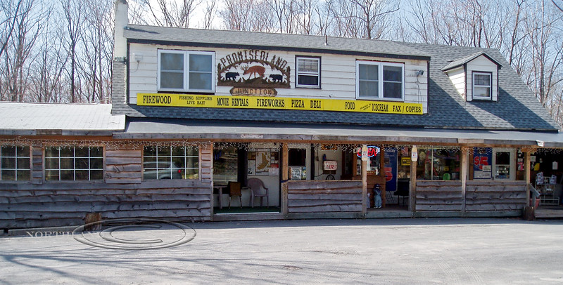 PA-2006.4.15#50069. A famous and memorable vintage quick stop along route 390 when fishing and exploring the outdoors in the Pocono Mountain area of the Pike County Pennsylvania.