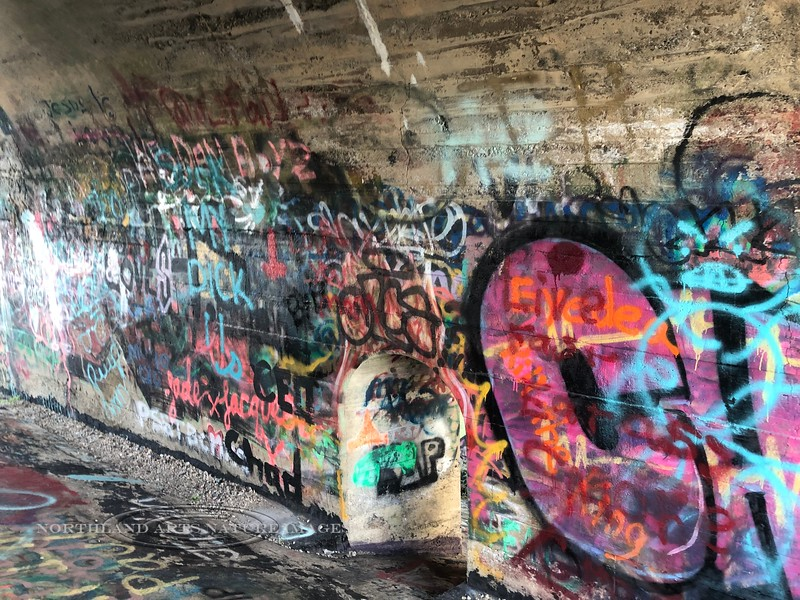 PA-DRV5-2019.7.14#068.1. Graffiti Art in the Delaware River Viaduct, Mount Bethel Pennsylvania. Photo by Karisa Smith.