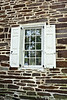 PA-WC40-2020.9.15#0722.1. A view of window construction on McConkey's Ferry Inn. Washington Crossing Historic Park. Bucks County Pennsylvania.