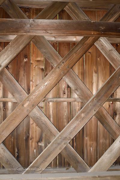 PA-CBCR4-2020.9.14#0279.2. Interior construction of the Cabin Run Covered Bridge. Bucks County Pennsylvania.