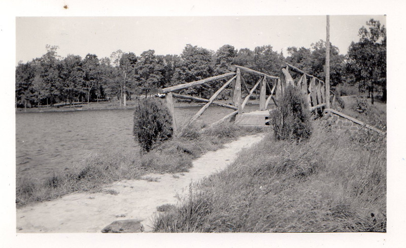 PA-1950's#364. The bridge over the spillway of Lake Warren. Nockamixon Township, Bucks County Pennsylvania. Photo Courtesy Neil Jesiolowski Sr.