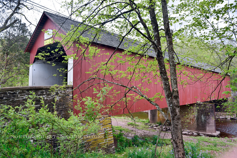 PA-CBF-2016.5.15#094. The Frankenfield Covered Bridge over the Tinicum Creek. Bucks County Pennsylvania.