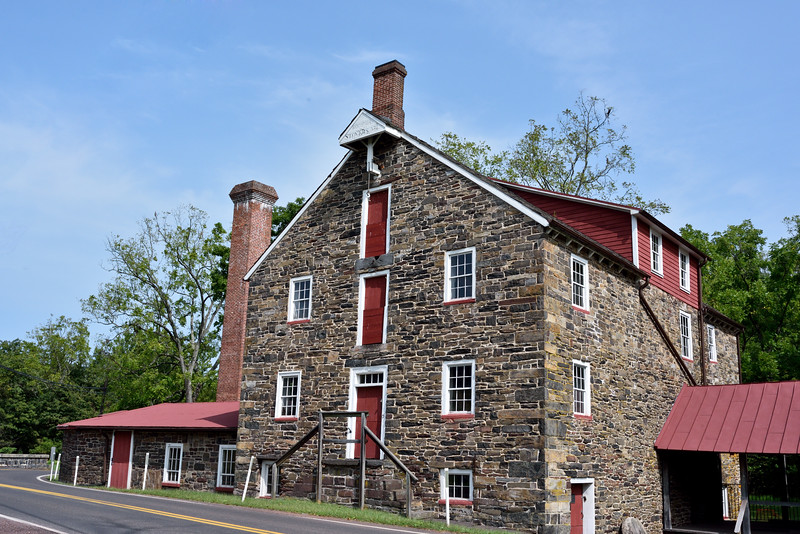 PA-SMM1-2020.9.14#0256.3. The Stover-Meyers Grist/Saw Mill c1800 on Tohickon Creek. Bucks County Pennsylvania.