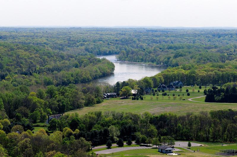 PA-WC8-2012.4.24#004.2. View from Bowman's Hill Tower. Washington Crossing Historic Park. Bucks County Pennsylvania.