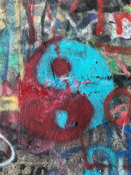 PA-DRV3-2019.7.14#063.1. Graffiti Art, Delaware River Viaduct, Mount Bethel, Pennsylvania. Photo by Karisa Smith.