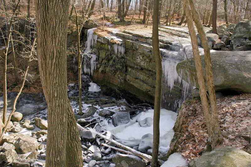 PA-2005.2.18#011.3. High Falls near Ringing Rocks in Bucks County Pennsylvania.