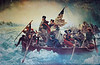 """PA-WC1-2005.2.22#071.b2b1. """"Washington Crossing the Delaware"""". This is a copy of the replica of the second original by Emanuel Leutze. A German-American artist. The first was damaged in a fire at Leutze's studio and the second was destroyed by allied bombing in Germany. On display in the Washington Crossing Historic Park visitor's Center. Bucks County Pennsylvania."""