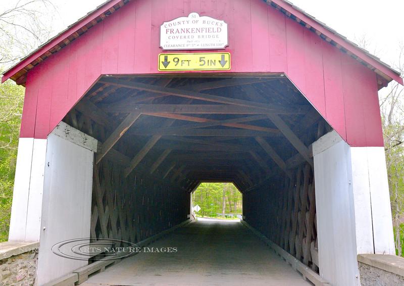 PA-CBF-2016.5.15#095.3 Interior view of construction in the Frankenfield Bridge. Bucks County, Pennsylvania.