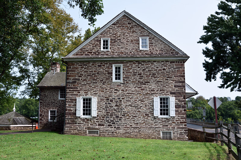 PA-WC38-2020.9.15#0730.1. A side view of McConkey's Ferry Inn. Bucks County Pennsylvania.
