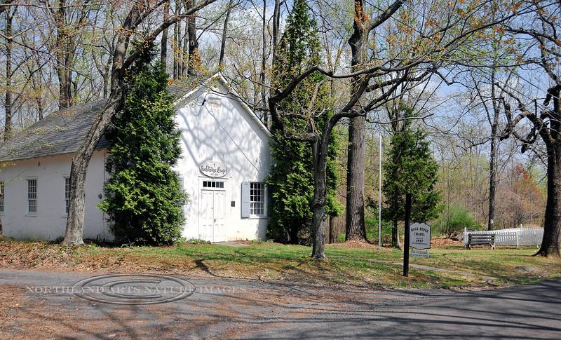 PA-2008.4.22#258d. Rock Ridge Chapel. A nondenominational church of worship on Clay Ridge a short way from Geigle Hill Road. Built in 1847. Tinicum Township, Bucks County Pennsylvania.