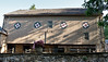 PA-2020.9.23#1624.3. A beautifully restored Early American barn with Hex Signs. Rural Pennsylvania.
