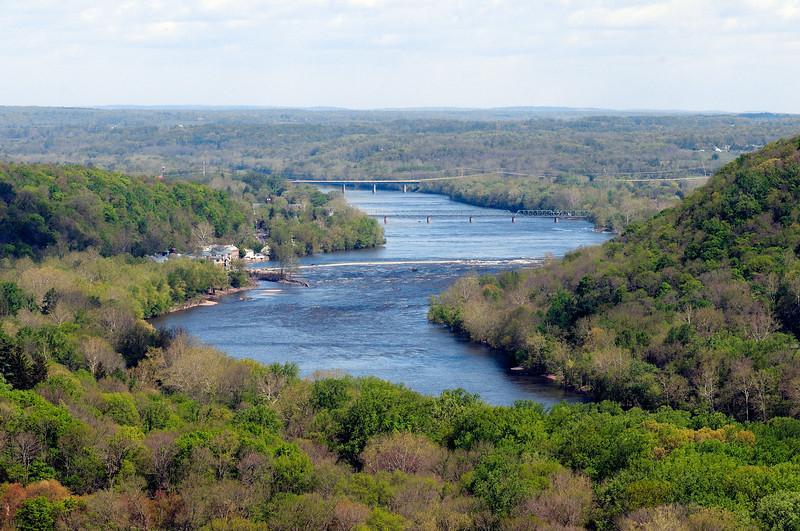 PA-WC6-2012.4.24#001.2. View from Bowman's Hill Tower. Washington Crossing Historic Park. Bucks County Pennsylvania.