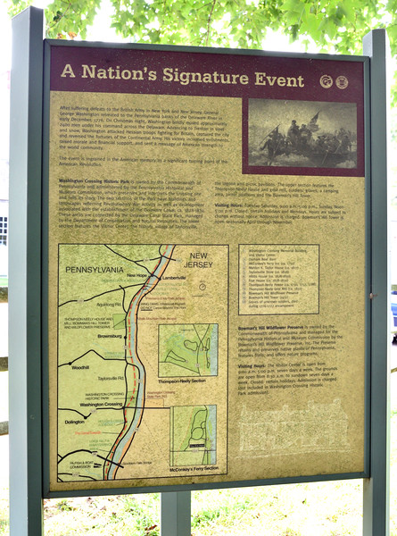 PA-WC53-2020.9.15#0732.1. Interpretive sign. Washington Crossing Historic Park. Bucks County Pennsylvania.