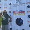 Now a pic of us in our eclipse glasses!  (I couldn't see a thing - which is why my hat is now backwards!!)