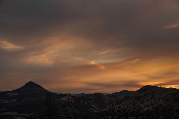 Smokey sunset, Oregon High desert