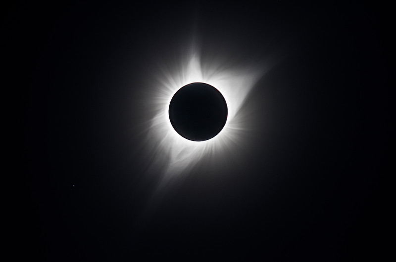 Corona during totality