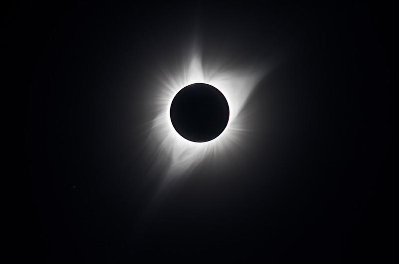Corona during totality
