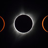 Composite image of the eclipse passage from right to left