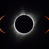 Composite image from the minutes around totality
