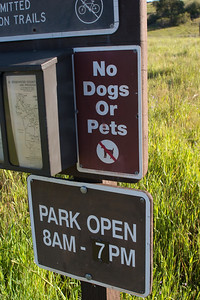 Hey--The  Horsemen get to take their big giant pets on these trails but I can't bring my little teeny (by comparison) dog pets? Huh.