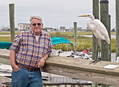 We figured out the best way to get a good photo with an Egret is to make friends with him.