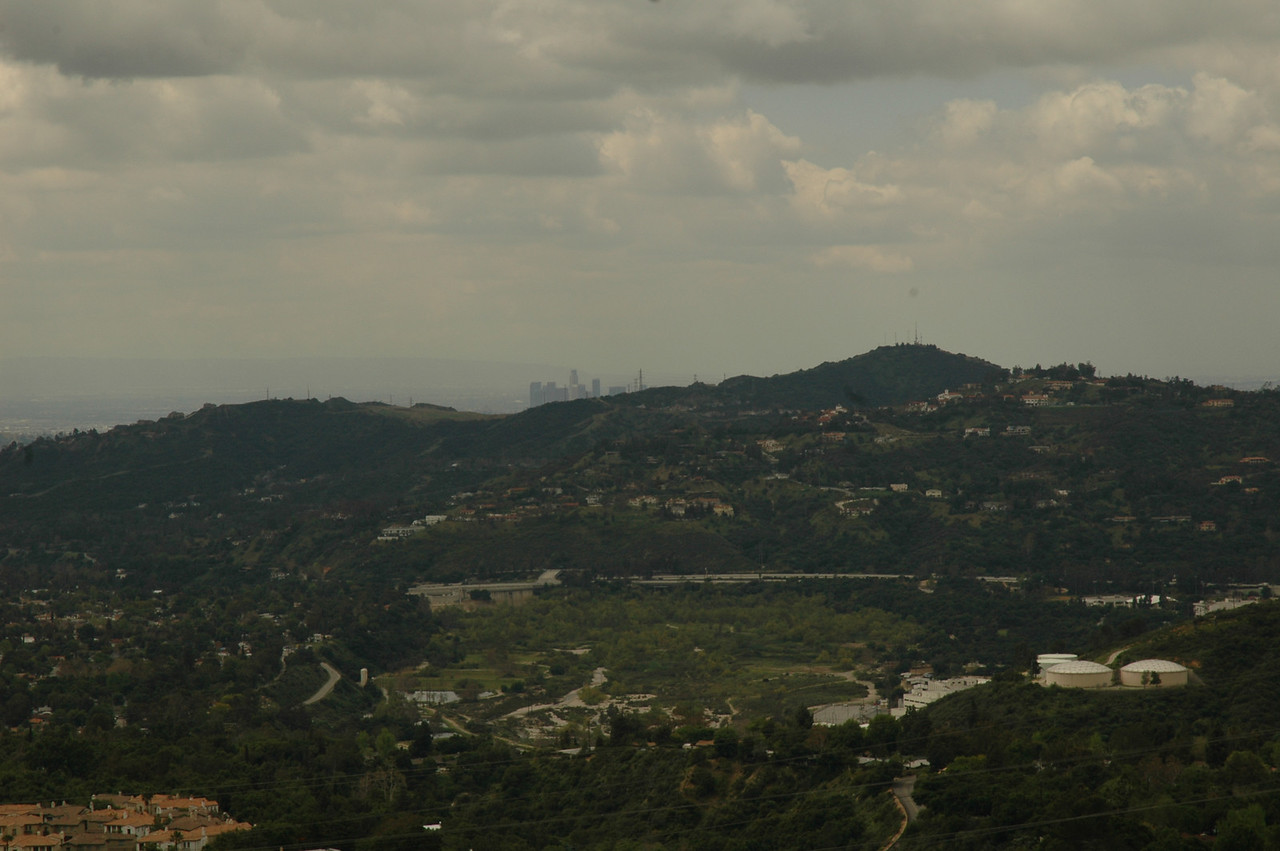 You can make out Downtown LA over the hill.