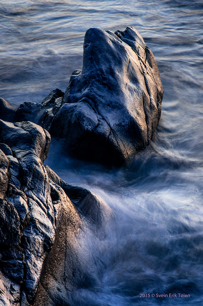 Mystery in the sea - cliff formation by the seashore at Skåltofta, Nyksund