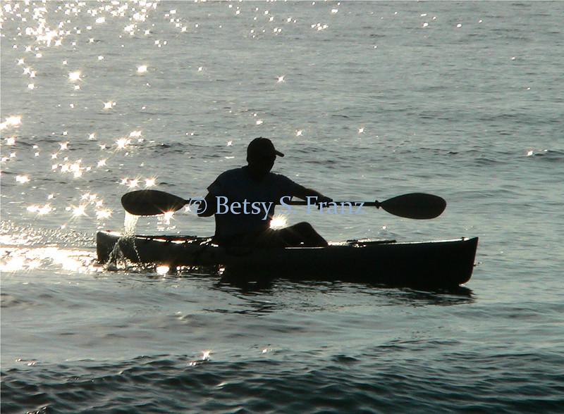 Ocean kayaking, Satellite Beach, Florida