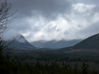 Hole in the clouds, on a rainy day, Kananaskis