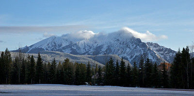 Looking North, from baseball diamond, Kananaskis village