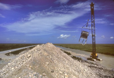 Draglining the Everglades; I-75 construction, 1988-89