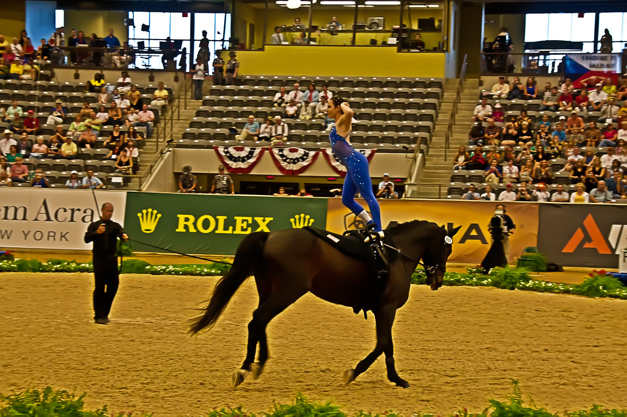 Megan Benjamin - Vaulting - World Equestrian Games 2010
