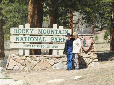 2008 - view from Estes Park area - we didn't go in, but had to take a picture of the sign