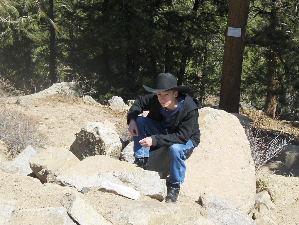 2008 - view from Estes Park area - now that's a cowboy!