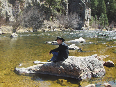2008 - view from Big Thompson River area towards Loveland - who's that handsome blue-eyed cowboy?