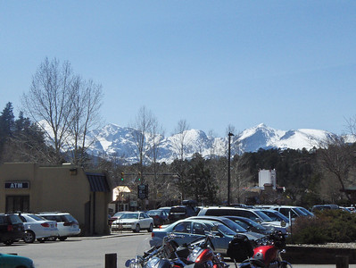2008 - Snow in the summer?  Don't get that in Texas!  This is in Estes Park looking at RMNP