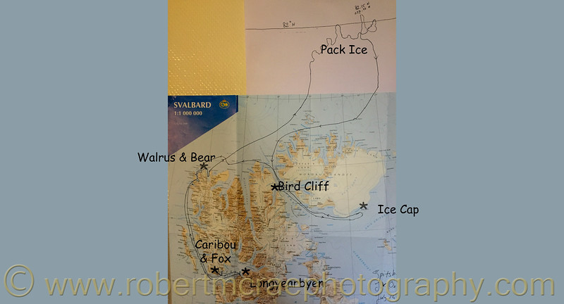 Svalbard Cruise to the Ice Pack Map Copy