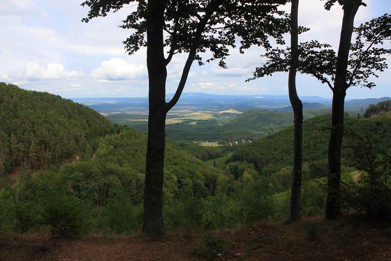 View from Matra Ridge — Kilátás a Mátra-nyeregről