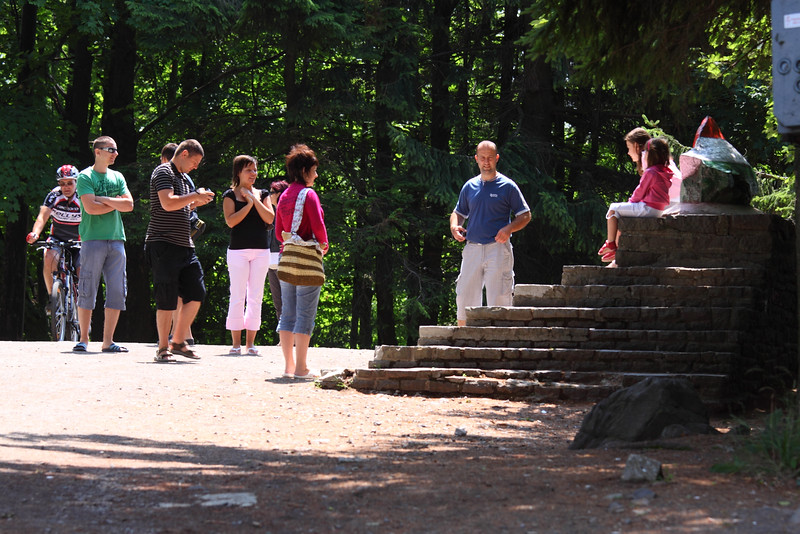 Tourists at the Top of Hungary — Turisták Magyarország tetejénél